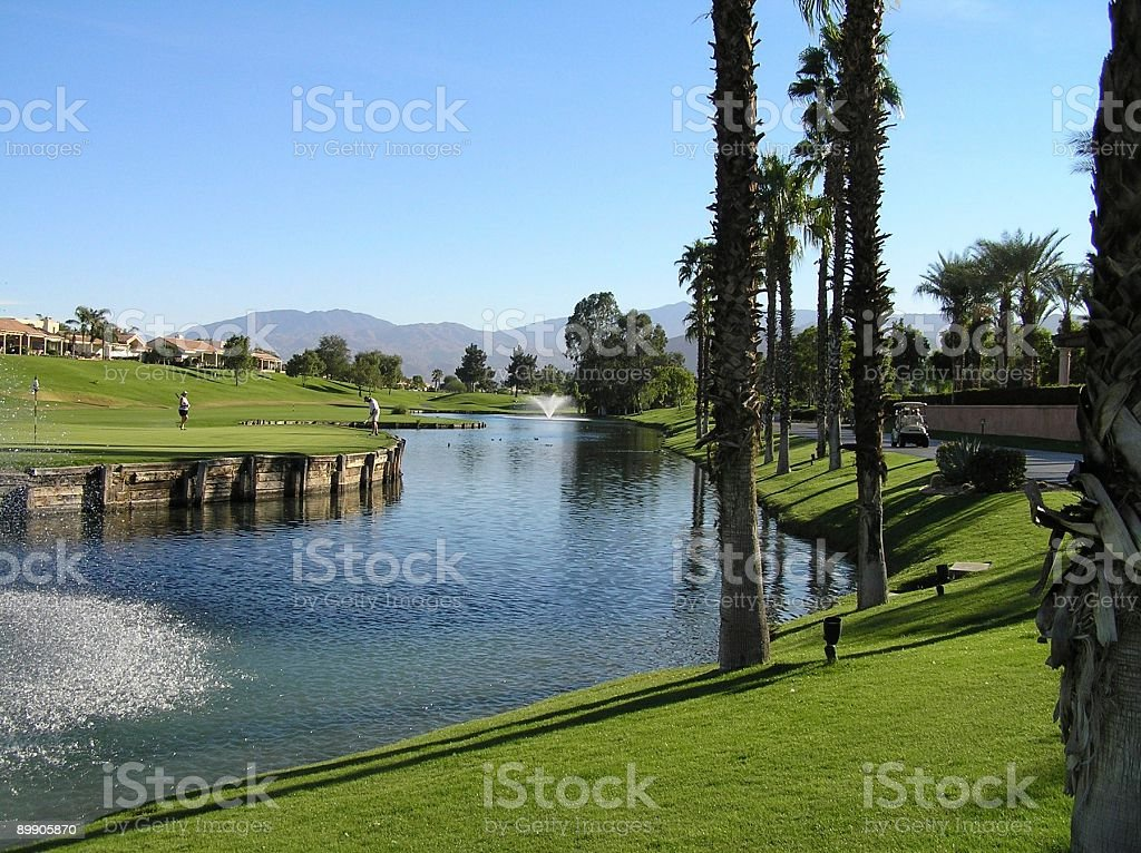 Westin Mission Hills 18th green royalty-free stock photo