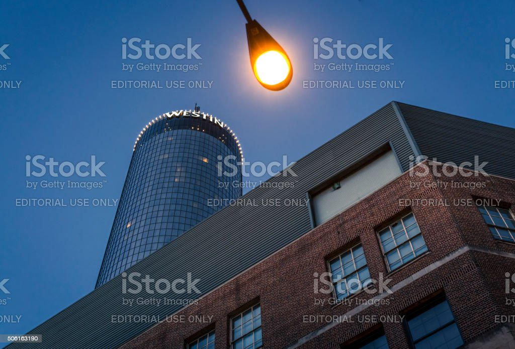 Westin Peachtree Plaza Hotel stock photo