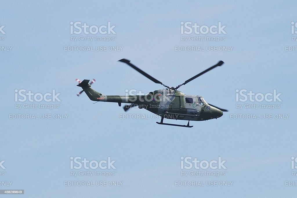 Westland AH.7 Lynx helicopter royalty-free stock photo