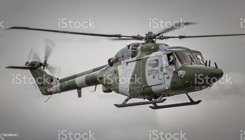 Westland Lynx Military Helicopter, UK stock photo