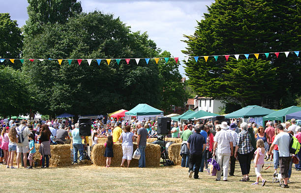 westleton barrel fair - village stock photos and pictures
