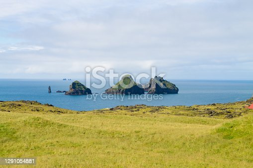 istock Westman Islands beach day view, Iceland landscape.Smaeyjar islands 1291054881