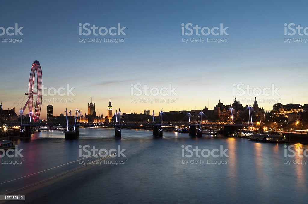 Westminister at susnet royalty-free stock photo