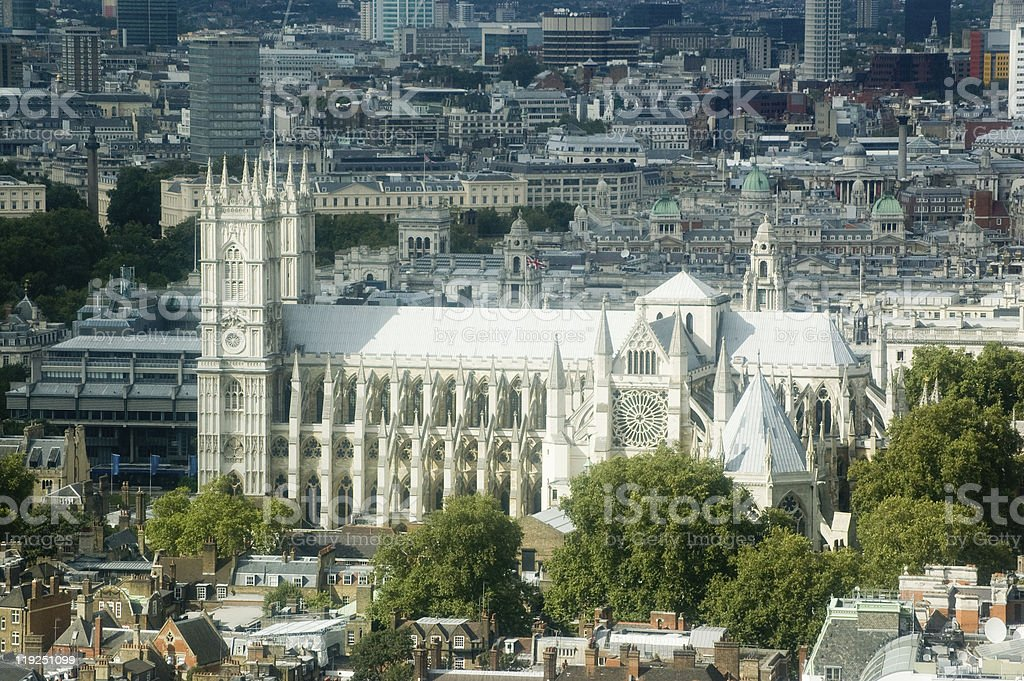 Westminster Abbey, Aerial view royalty-free stock photo