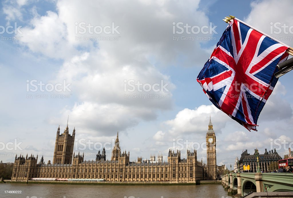 Westminster Abbey And Big Ben royalty-free stock photo