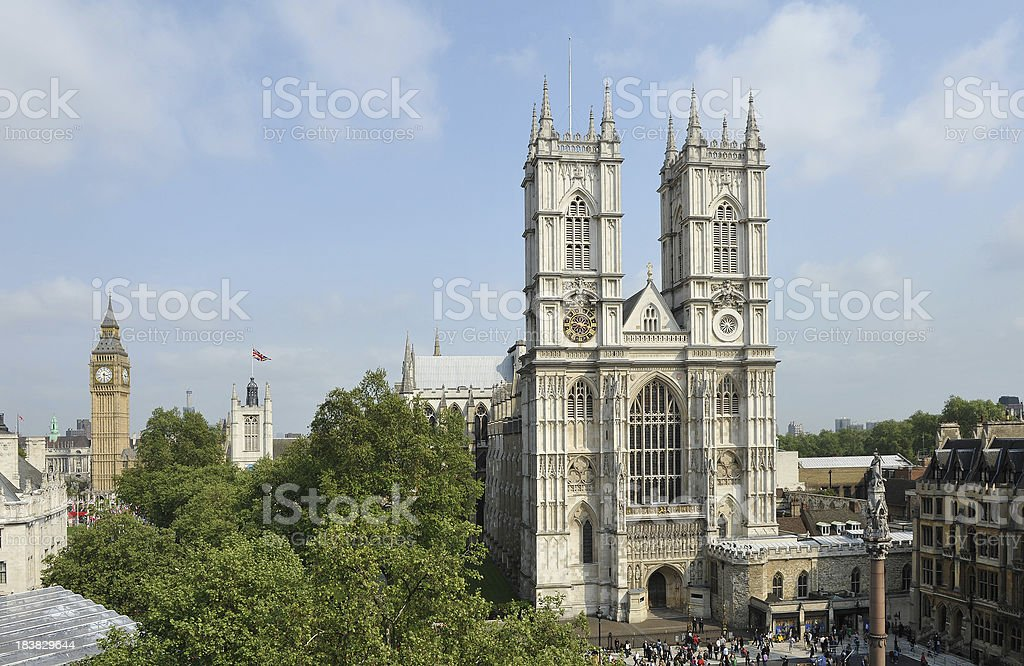Westminster Abbey and Big Ben stock photo