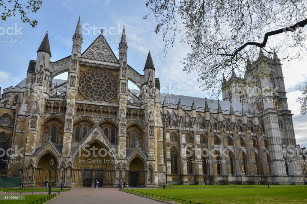 Westminster Abbey church, London, England, UK stock photo
