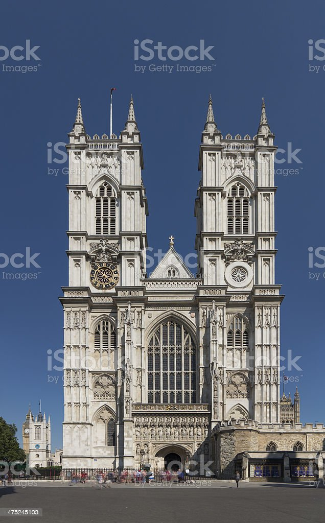 Westminster Abbey church London stock photo