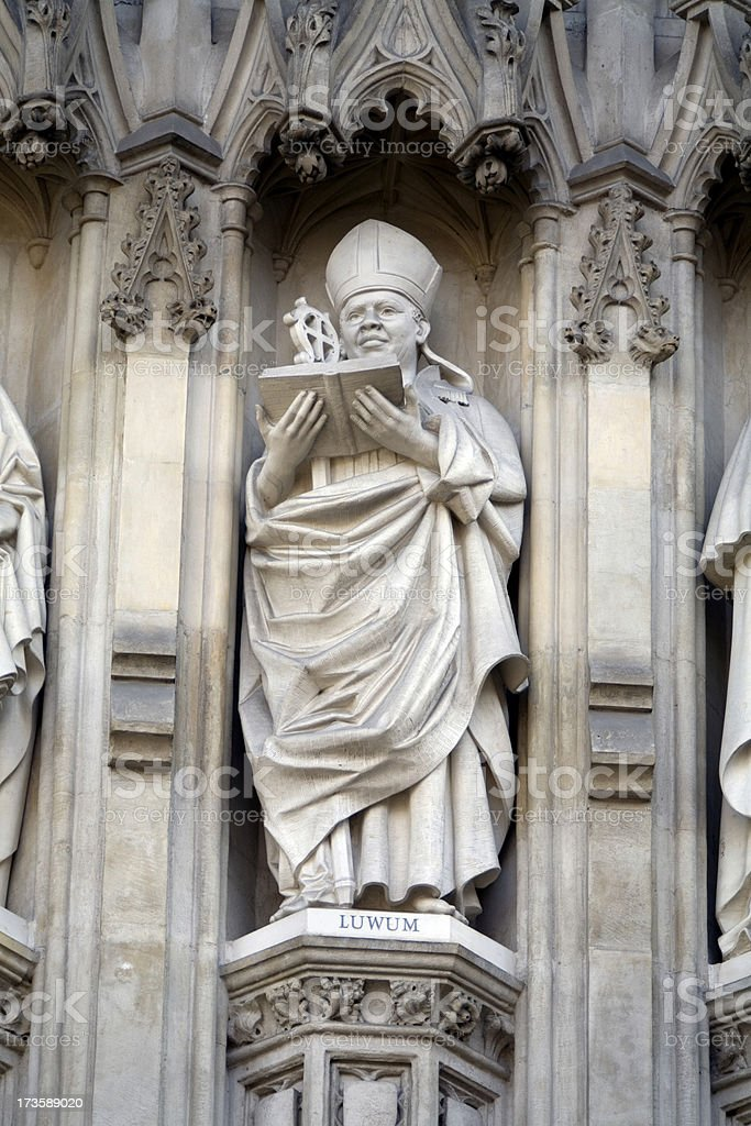 Westminster Abbey Detail in London royalty-free stock photo