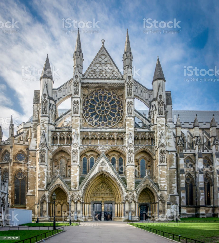 Westminster Abbey Entrance stock photo
