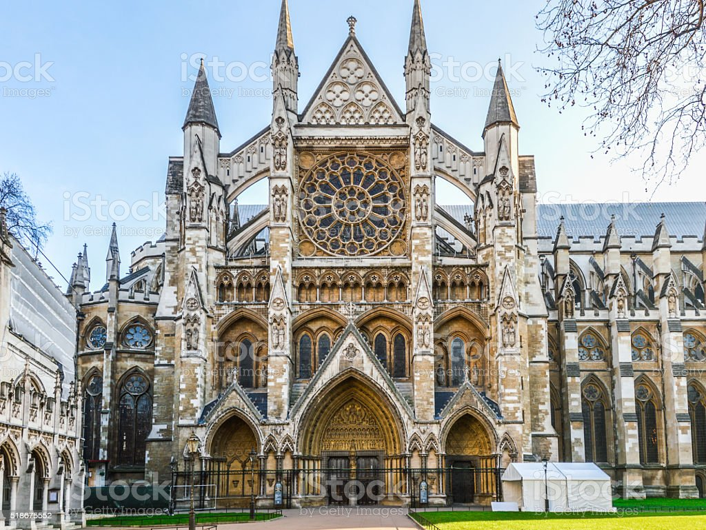 Westminster Abbey in London Westminster Abbey in London Abbey - Monastery Stock Photo