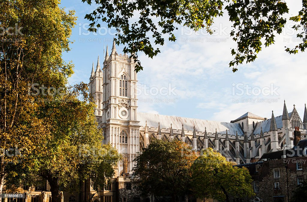 Westminster Abbey in London stock photo