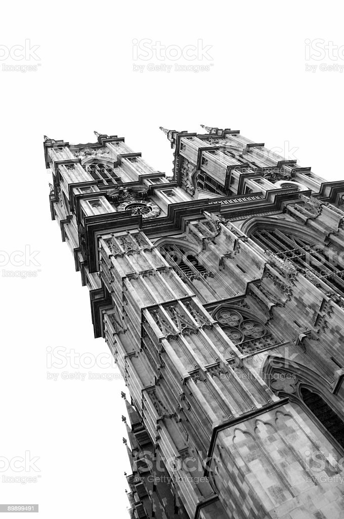 Westminster Abbey Isolated on White stock photo