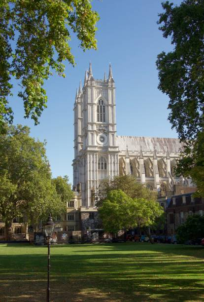 Westminster Abbey, London Side shot of Westminster Abbey, taken from Dean's Yard skeable stock pictures, royalty-free photos & images