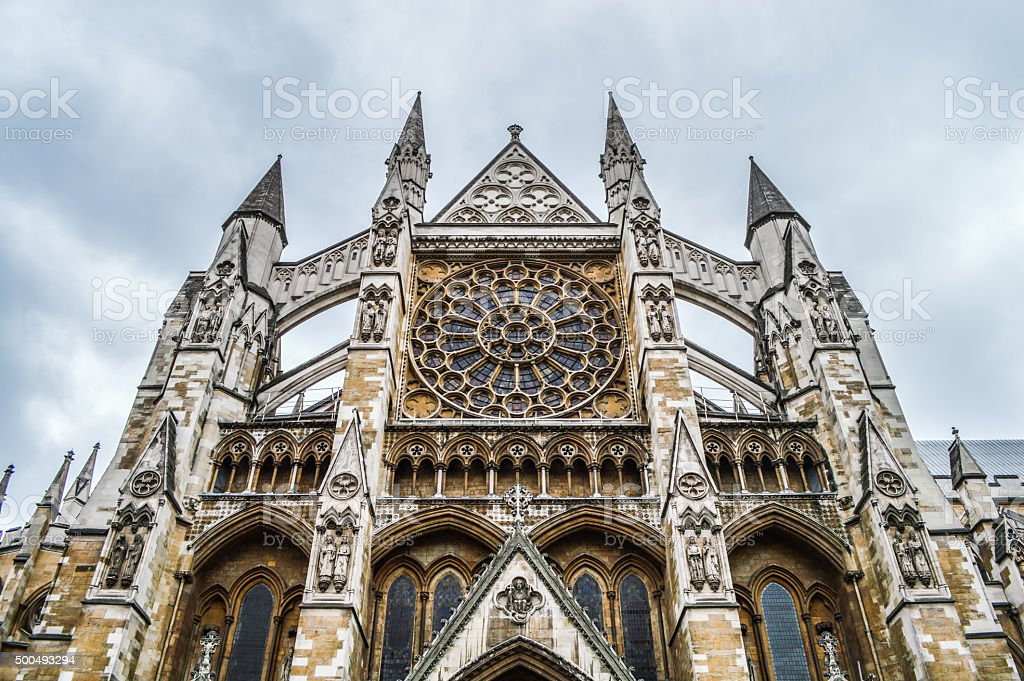 Westminster Abbey - London, UK stock photo