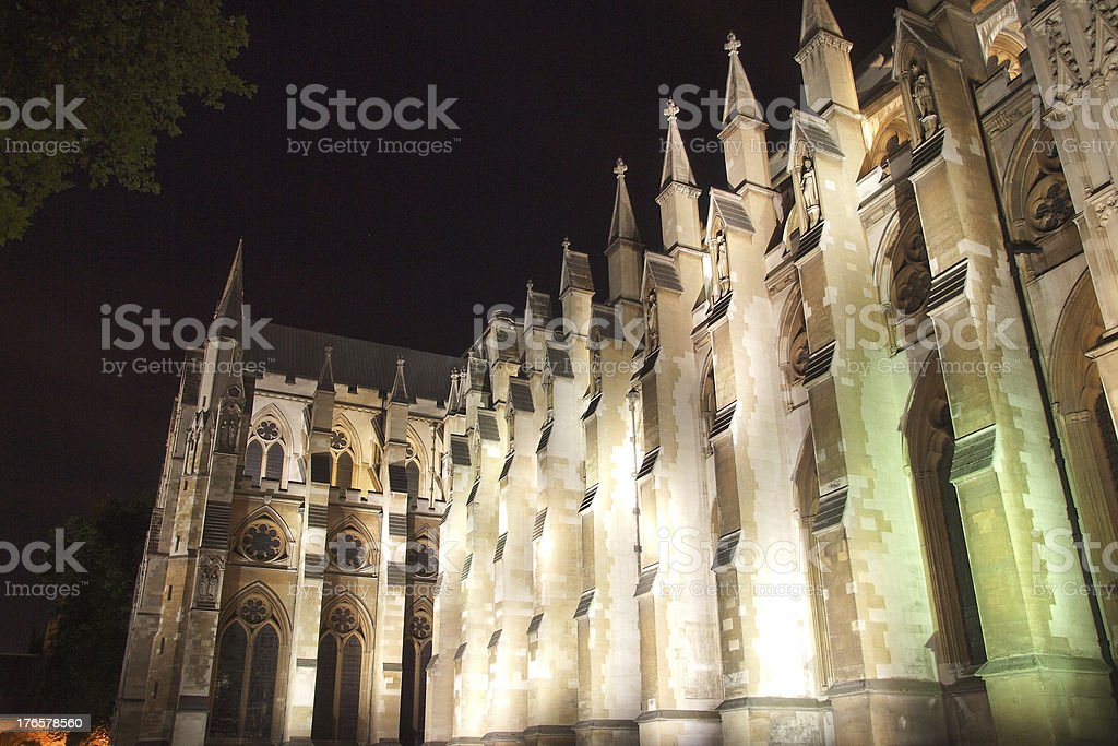 Westminster Abbey royalty-free stock photo