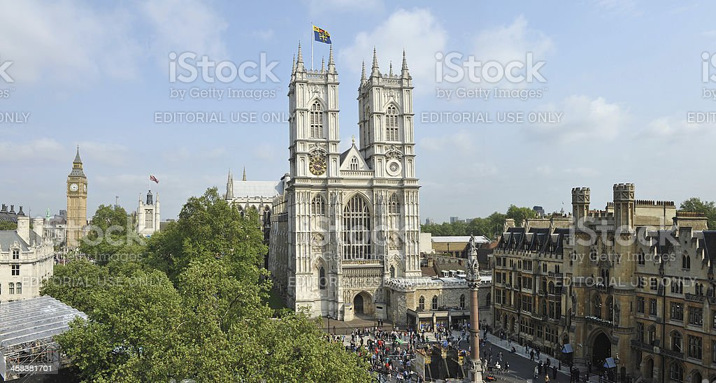 Westminster Abbey wide stock photo