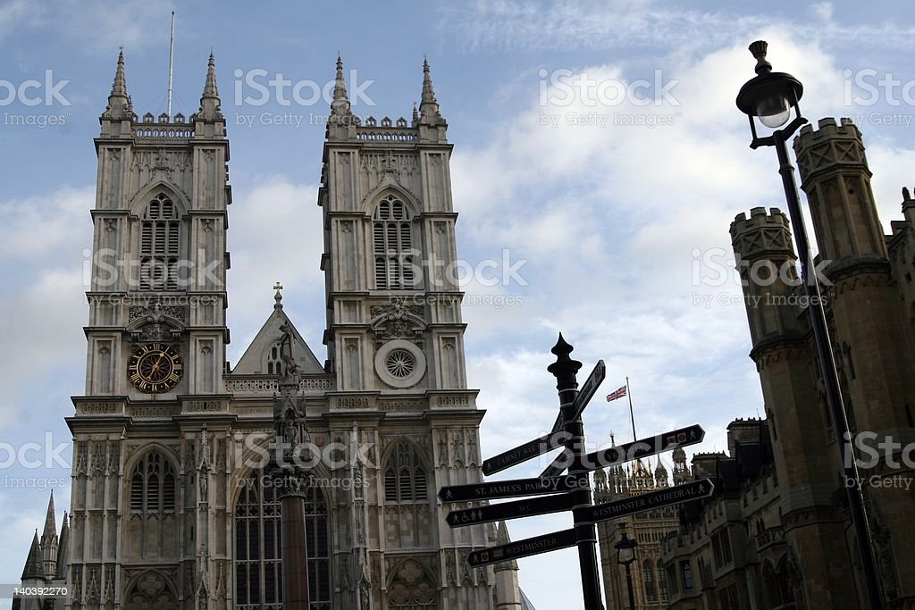 westminster Abby stock photo