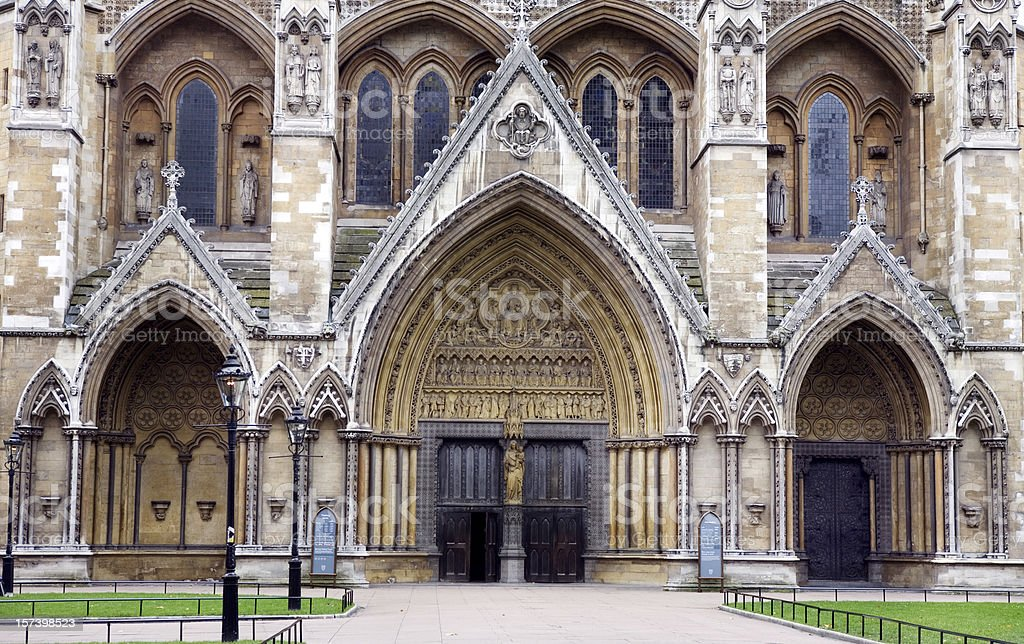 Westminster Ammey Entrance in London England stock photo