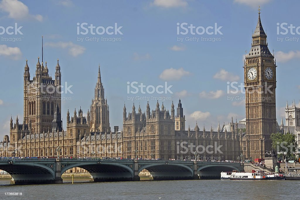 Westminster and Big Ben royalty-free stock photo