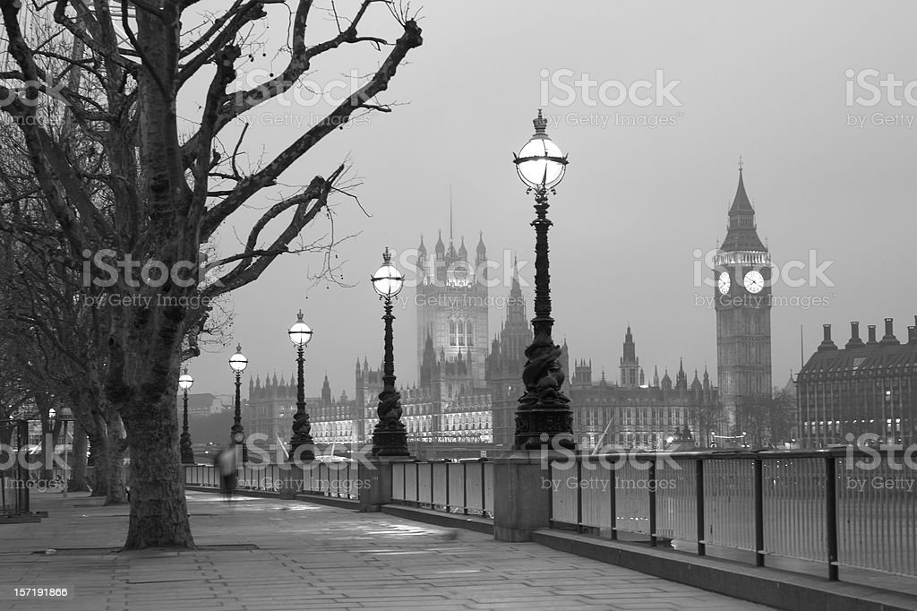 Westminster at dawn, London stock photo