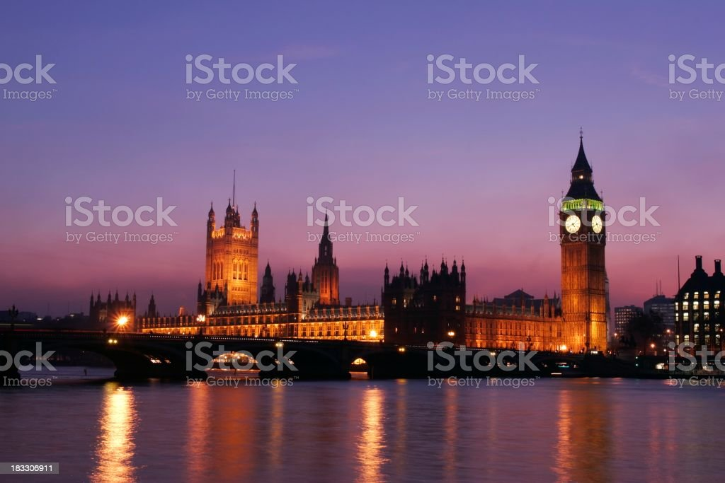 Westminster at Dusk royalty-free stock photo