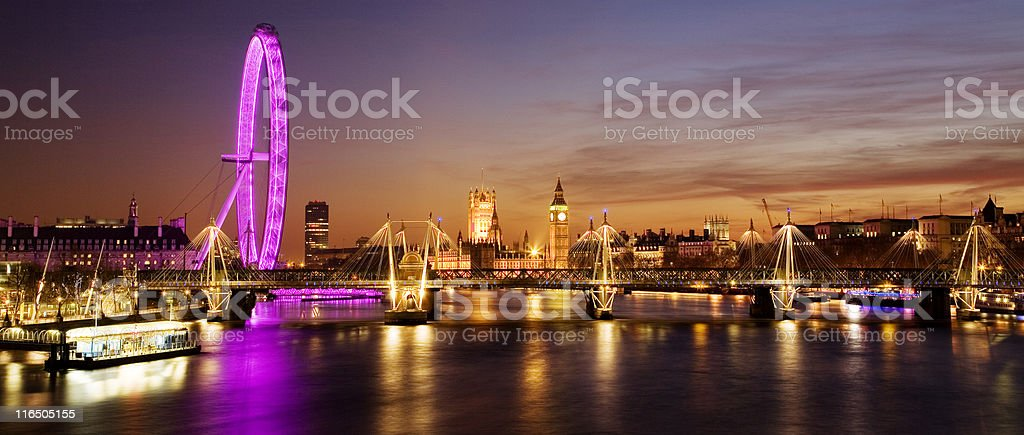 Westminster (London) at Sunset stock photo