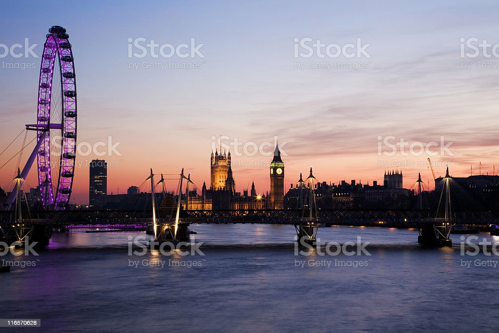 Westminster (London) at Sunset royalty-free stock photo