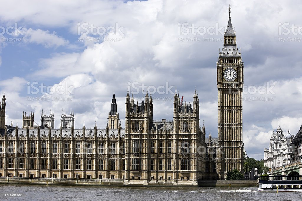 Westminster, Big Ben - London royalty-free stock photo