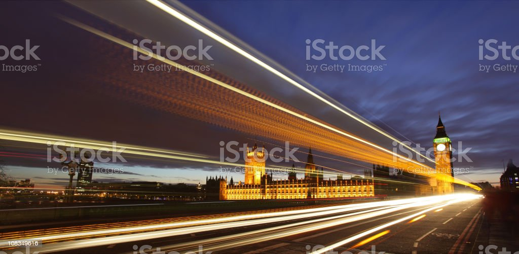 Westminster blur stock photo