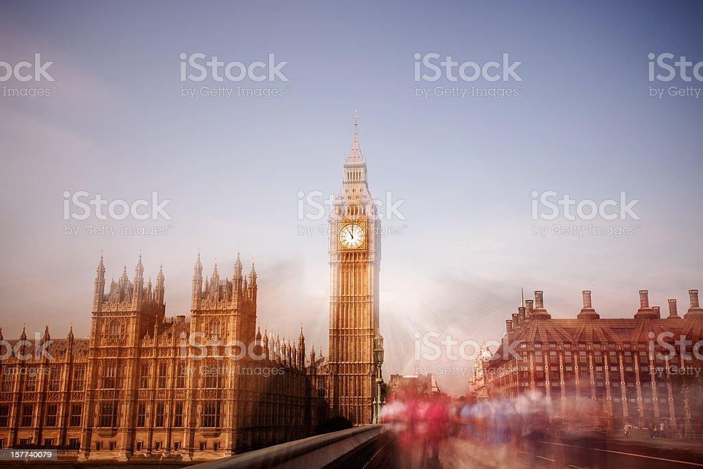 Westminster Bridge, Big Ben royalty-free stock photo
