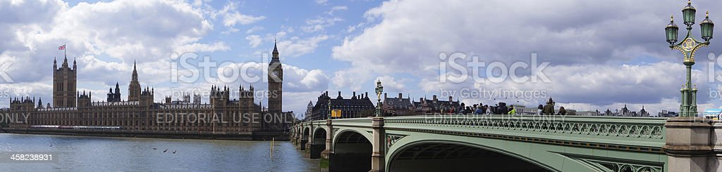 Westminster Bridge In London royalty-free stock photo