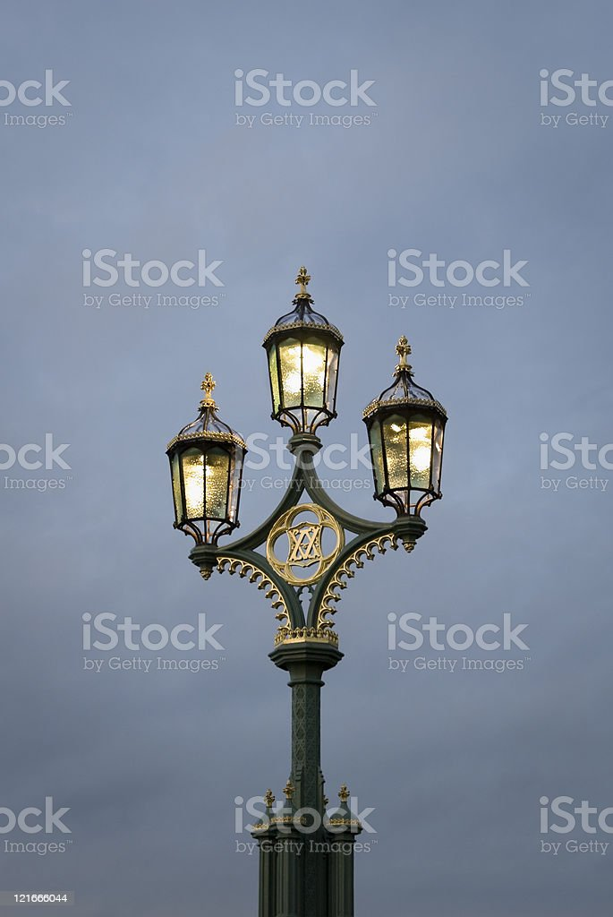 Westminster Bridge lantern royalty-free stock photo