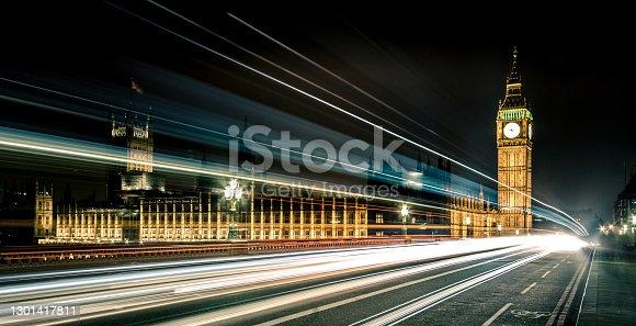 Westminster bridge with bigben at night