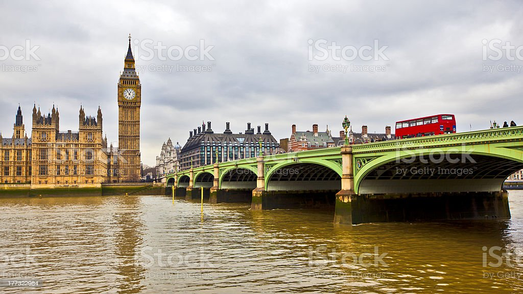 Westminster bridge royalty-free stock photo