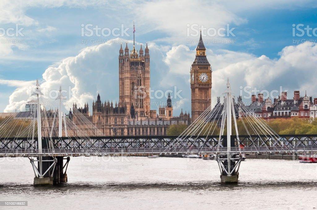 Westminster Palace and Big Ben, London, UK stock photo
