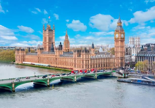 westminster palace and big ben, london, uk - big ben stock photos and pictures