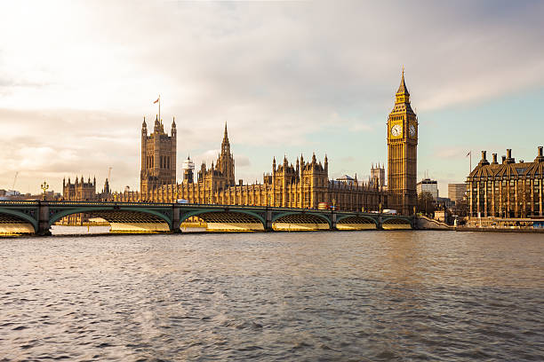 Westminster Palace and the River Thames in London, England