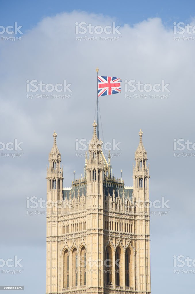 Westminster Parliament Tower stock photo