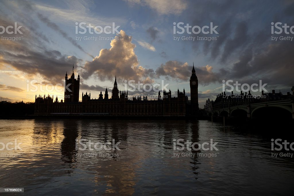 Westminster Sunset - Royalty-free Big Ben Stock Photo