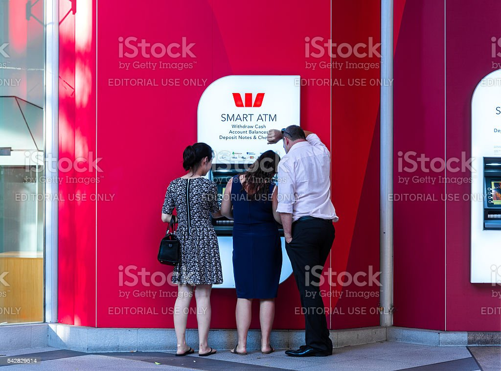 Westpac ATM, Sydney, Australia stock photo