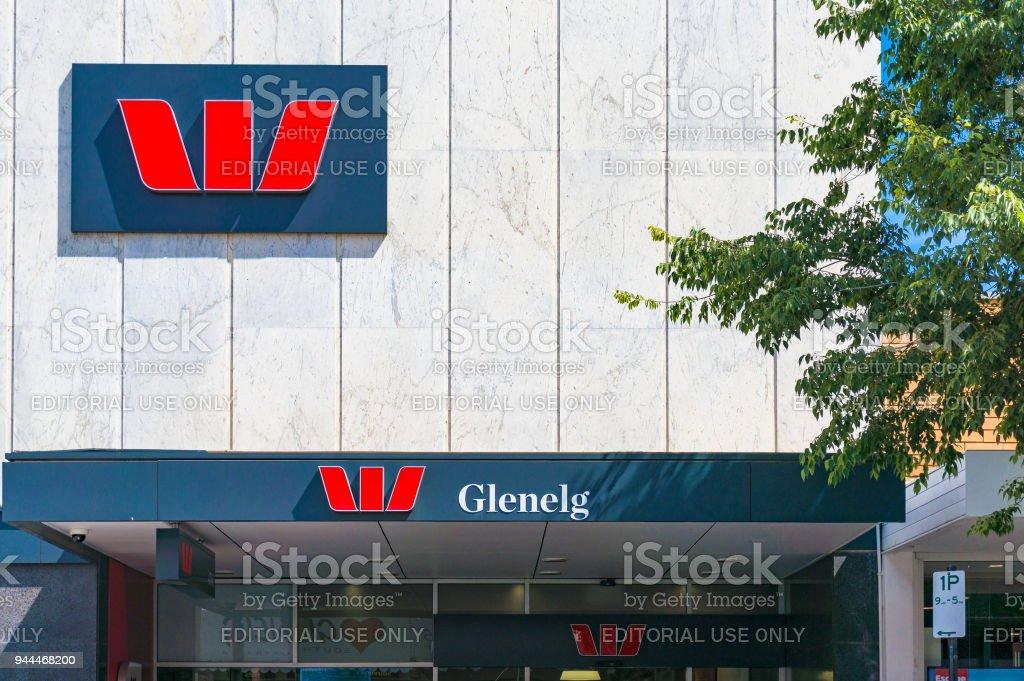 Westpac bank in Glenelg, South Australia stock photo
