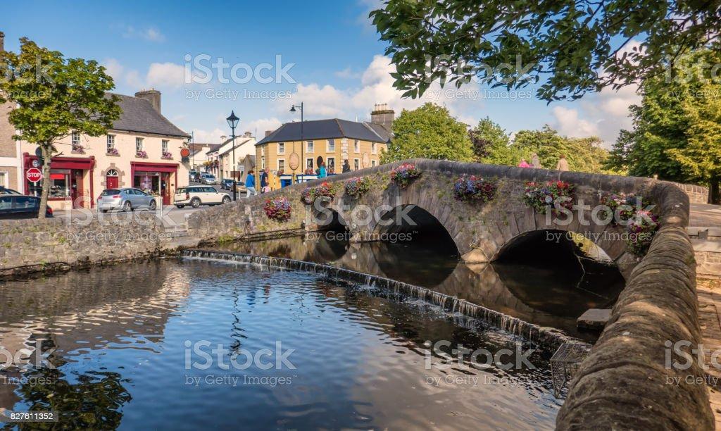 Westport bridge in county Mayo, Ireland stock photo