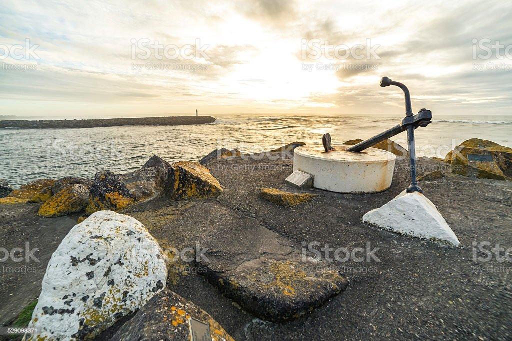 Westport harbour entrance stock photo