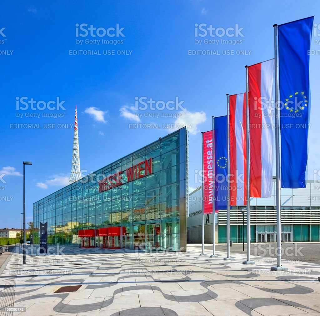 Westside of the new exhibition center Vienna, called Messe Wien royalty-free stock photo