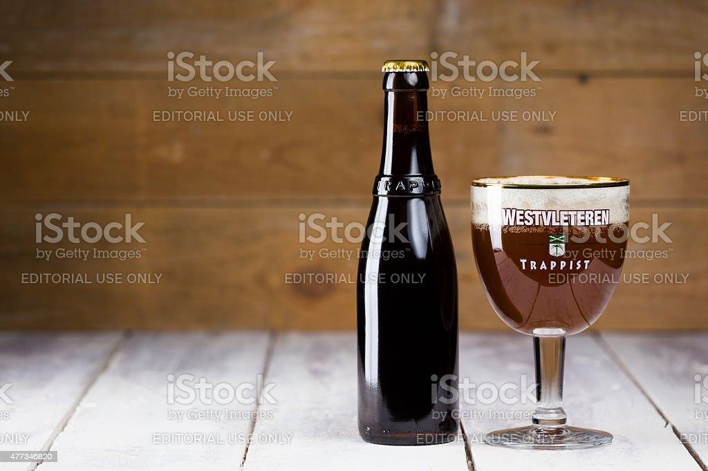 Westvleteren Belgian Trappist awarded best beer in the world stock photo