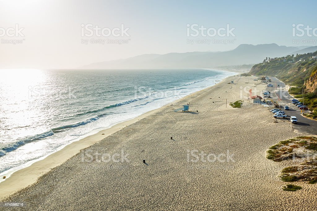Westward and Zuma Beach, California stock photo
