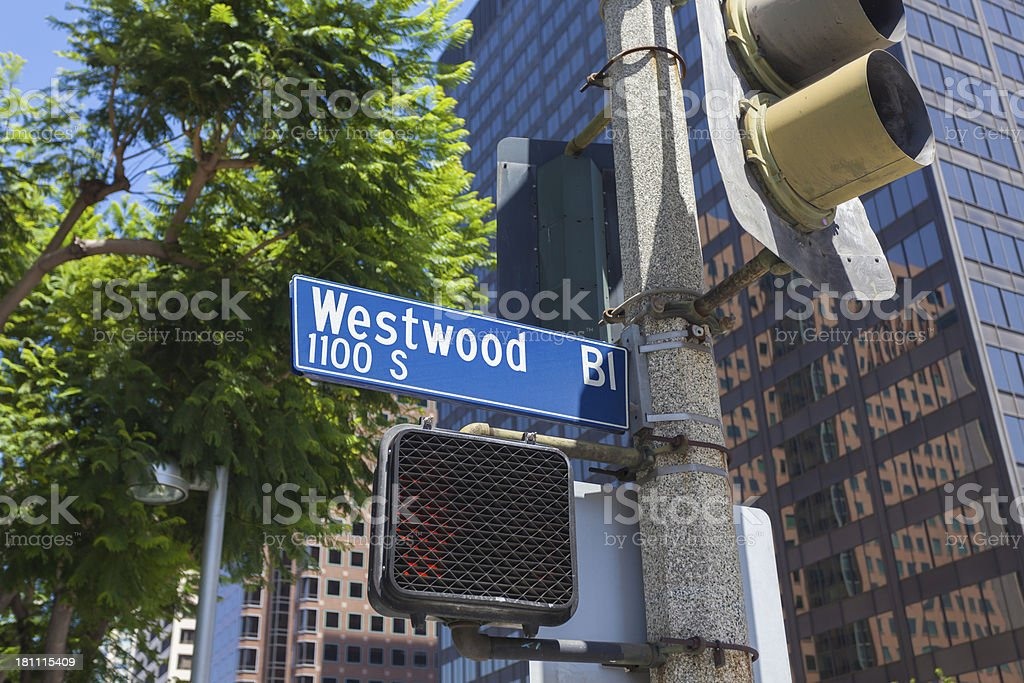 Westwood Blvd royalty-free stock photo