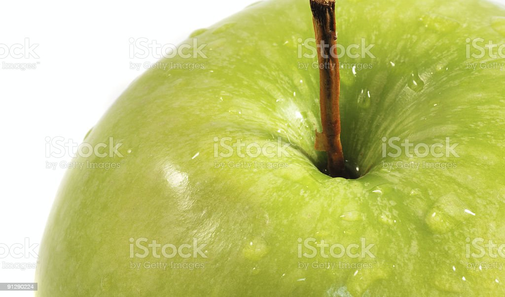 wet apple close up royalty-free stock photo