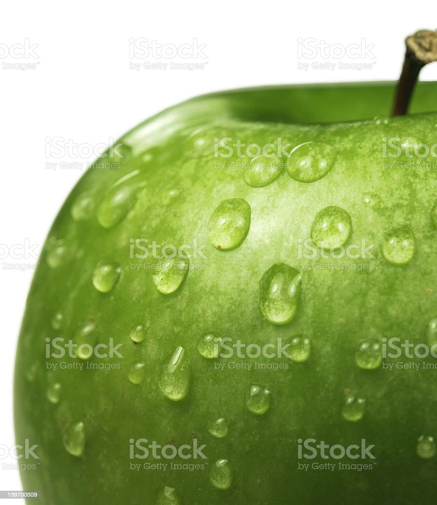 Wet apple royalty-free stock photo